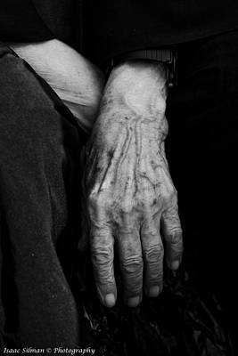 Baptizing Photograph - nun's Old hands by Isaac Silman