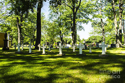 Photograph - Nuns Row Holy Cross Cemetery Marquette Michigan by Deborah Smolinske