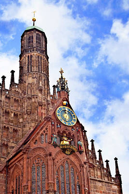 Nuremberg, Germany, Church Of Our Lady Art Print by Miva Stock