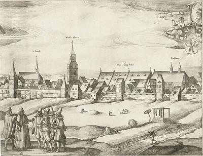 Wall Hanging Drawing - Nuremberg, Germany, Sheet 2, Dirk Eversen Lons by Dirk Eversen Lons And Nicolaes Visscher I