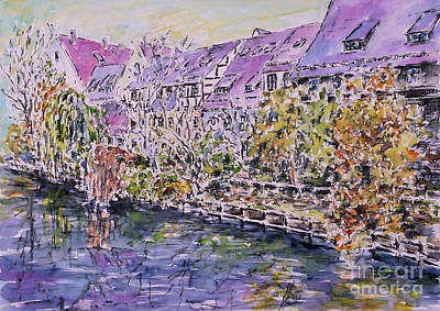 Nuremberg Northern Riverside Of Pegnitz Art Print