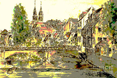 Nuremberg View To St.laurence Church Art Print by Almo M