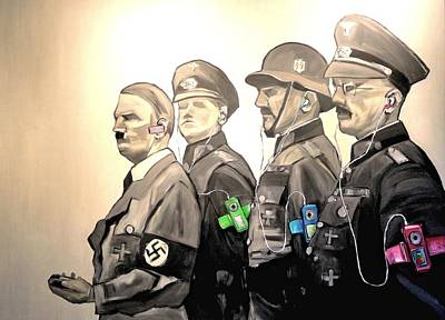 Painting - Nuremburg And The Ipods by Kevin Davidson