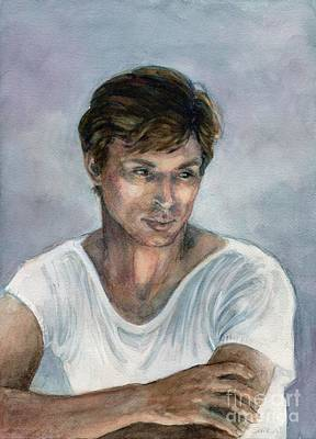 Art Print featuring the painting Nureyev by Lora Serra
