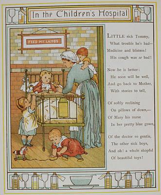 Nurse Attending A Sick Child Art Print