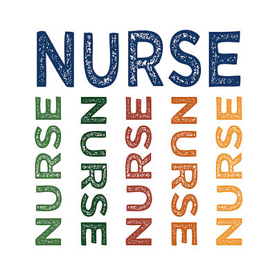 Primary Colors Digital Art - Nurse Cute Colorful by Flo Karp