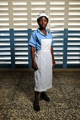 Nurse In Sierra Leone Art Print by Matthew Oldfield