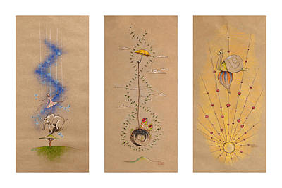 Balloons Drawing - Nursery Collection 4 by David Breeding