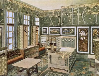 Art Nouveau Drawing - Nursery Designed By Will Bradley by .