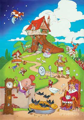 Nursery Rhyme Digital Art - Nursery Rhymes by Irvine Peacock