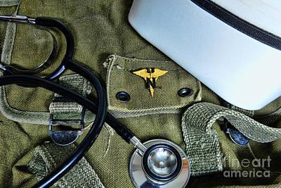 Nursing - Combat Nurse Art Print by Paul Ward