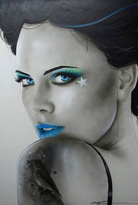 Charlize Wall Art - Painting - Nurture by Christian Chapman Art