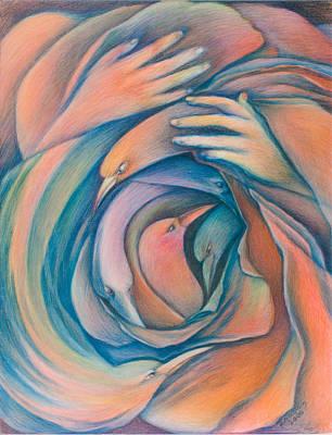 Caress Drawing - Nurturing by Hannah Greenberg