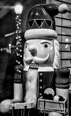 Photograph - Nutcracker - Bw by Christopher Holmes