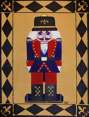 Nutcracker Floor Cloth Sgt. Blue Art Print