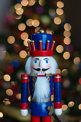 Christmas Photograph - Nutcracker In Front Of A Christmas Tree by AMB Fine Art Photography