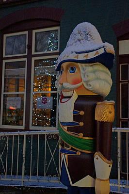 Nutcracker Statue In Downtown Grants Pass Art Print by Mick Anderson