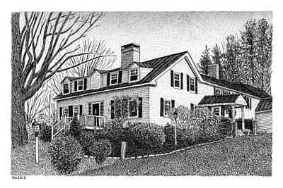 Drawing - Nutmeg Inn by Scott Woyak