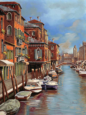 Lagoon Painting - nuvole a Murano by Guido Borelli