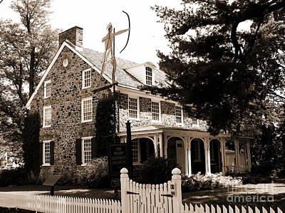 Photograph - Parry Mansion Museum - Sepia by Jacqueline M Lewis