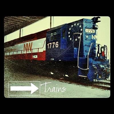 Train Photograph - Nw Locomotive #1776 #phonto #altphoto by Teresa Mucha
