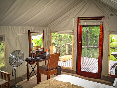 Photograph - Nxabega Tent 2 by Gregory Daley  PPSA