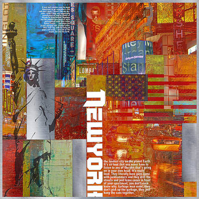 Ny City Collage 3 Print by Corporate Art Task Force