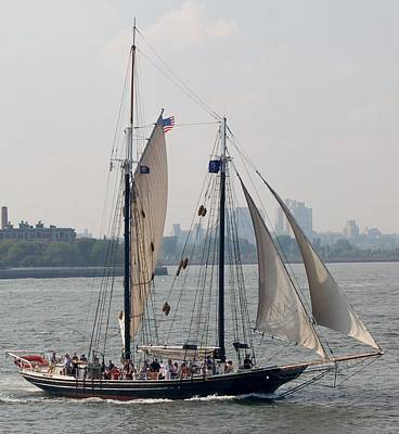 Photograph - Ny Harbor Schooner by Christopher James