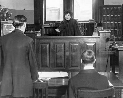1916 Photograph - Ny Judge Carroll Mccomas by Underwood Archives