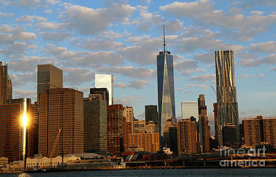 Photograph - Ny Skyline In The Morning by Steven Spak