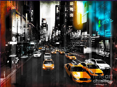 Christine Mixed Media - Ny Streets by Christine Mayfield