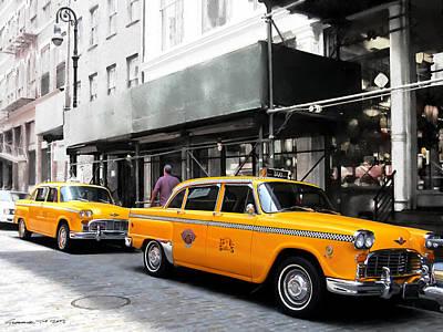 Ny Streets - Yellow Cabs 1 Art Print