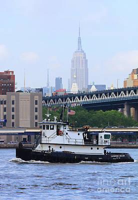 Hudson River Tugboat Photograph - Ny Tugboat by Steven Baier