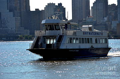 Photograph - Ny Waterway Taxi by Kathy Flood