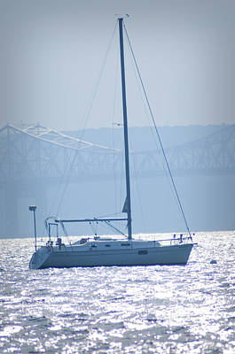 New York Photograph - Nyack New York - Sailboat by Bill Cannon