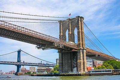 Nyc Bridges To Brooklyn Art Print