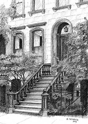 Drawing - Nyc Brownstone by Al Intindola