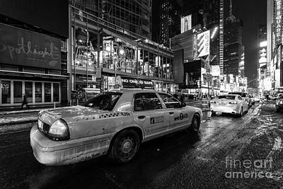 Nyc Cab Times Square Art Print by John Farnan