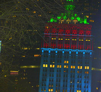 Nyc Christmas Time Art Print by Sue Rosen