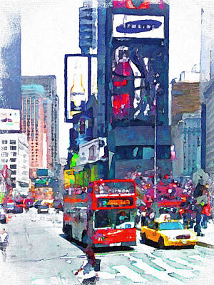 Building Exterior Digital Art - Nyc Downtown 1 by Yury Malkov