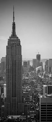 Photograph - Nyc - Empire State Building - Black And White by Thomas Richter
