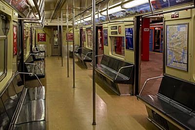 Empire State Photograph - Nyc F Subway Train by Susan Candelario