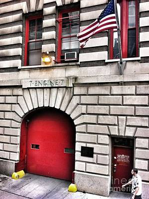Photograph - Nyc Fire Station Engine 7 by Susan Garren