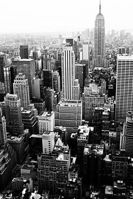 Nyc From Rockefeller Center Art Print by Hee Jeong Savvides