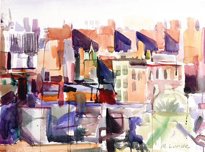 Painting - Nyc From The East Village by Mark Lunde