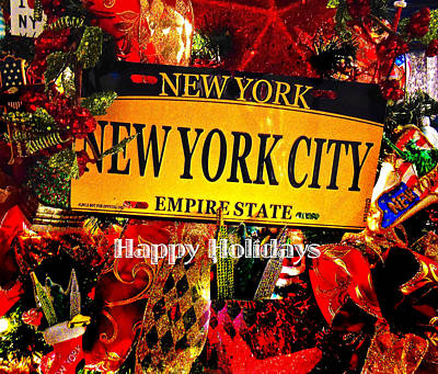 Photograph - Nyc Happy Holidays by Joan Reese