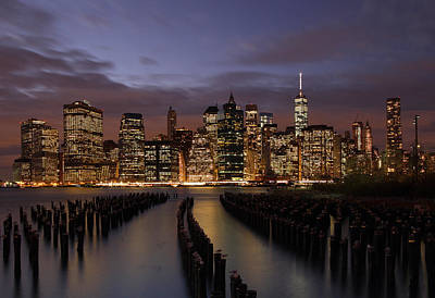 Skylines Royalty-Free and Rights-Managed Images - Nyc by Juergen Roth