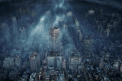 Blue Art Photograph - Nyc by Leif L?ndal