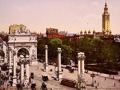 Nyc, Madison Square, Dewey Arch, 1900 Art Print