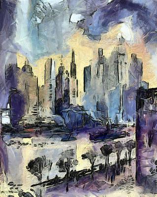 Nyc Art Print by Odon Czintos